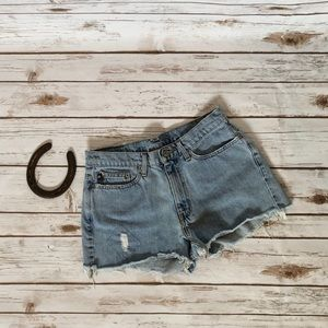 💜RL POLO patchwork jean shorts